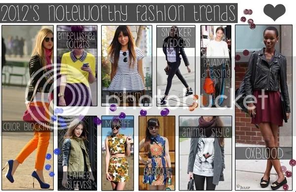 2012 Fashion Summary