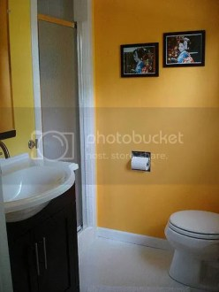 bathroom colour