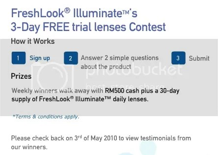 contest contact lens