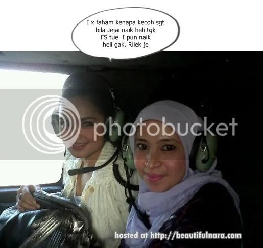 siti nurhaliza naik helikopter