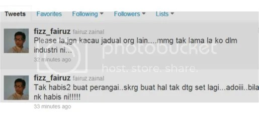 fizz fairuz mengamuk di twitter