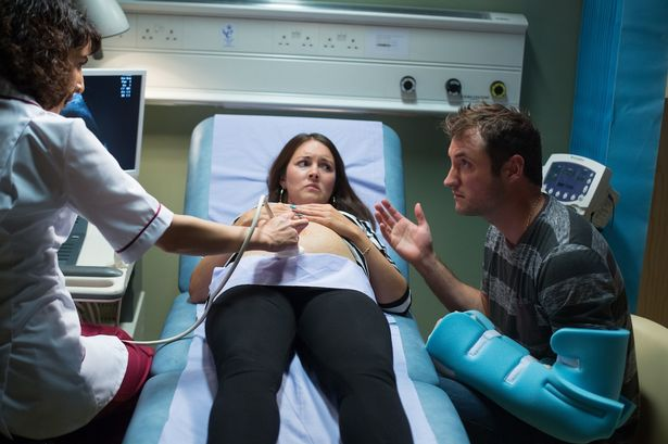 Stacey's annoyed when Martin quizzes the nurse about her bipolar during her scan