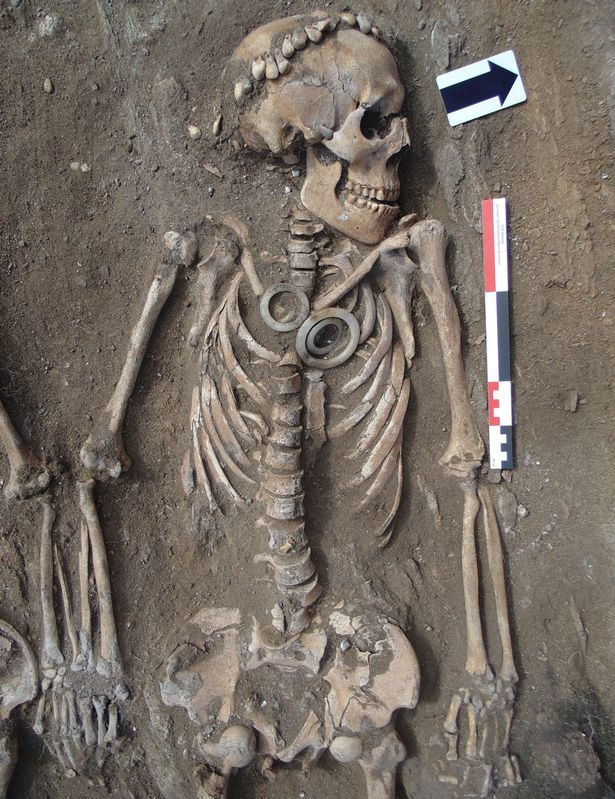 The skeletons are believed to be an ancient dignitary and his younger wife or lover