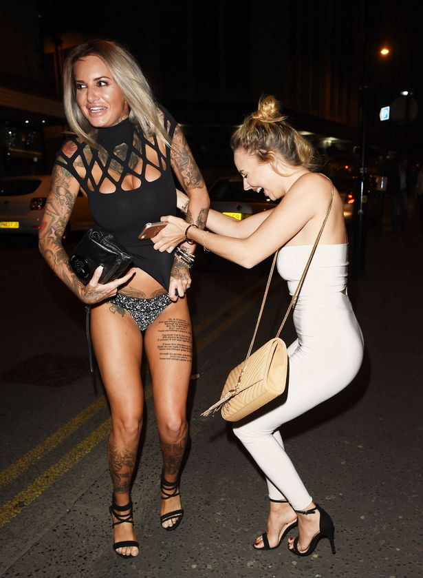 MTV Ex On The Beach star Jemma Lucy seen leaving San Carlo Restaurant in Manchester