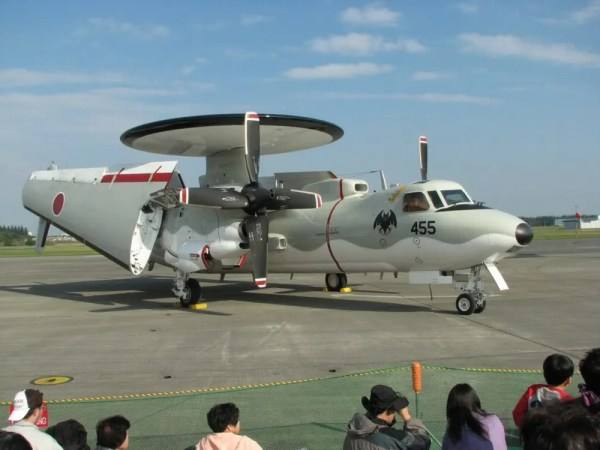 Northrop Grumman E-2C airborne early warning aircraft