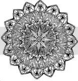 These free kaleidoscope coloring book pages help children develop an understanding of symmetry and patterns.