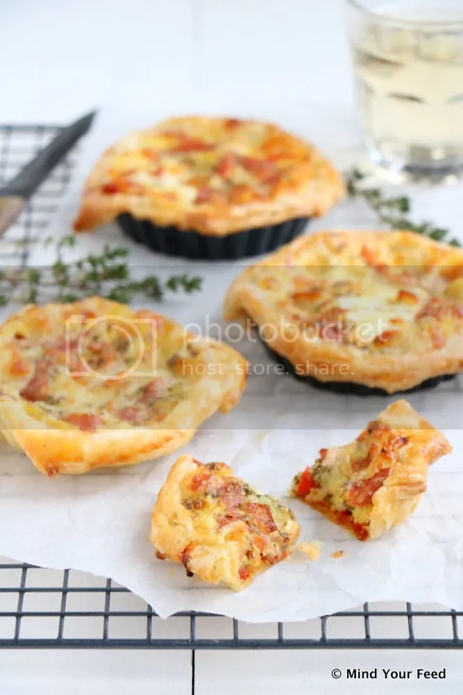 mini pizza quiche