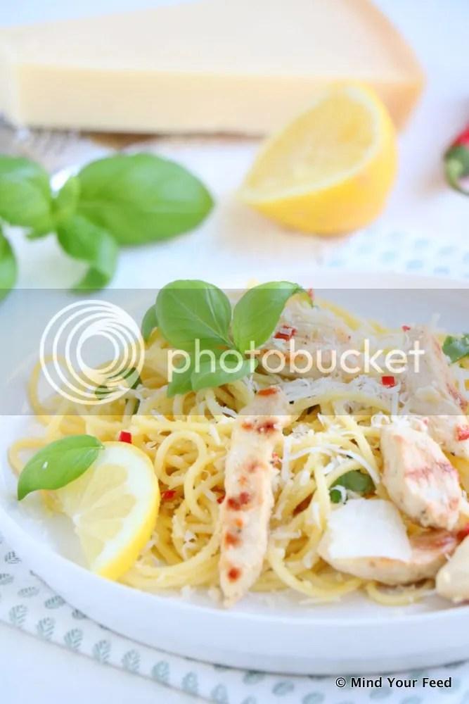 pasta met citroen kip