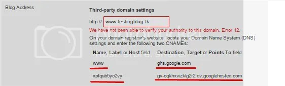Custom Domain On Blogger