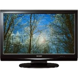 """The brand new 32"""" Sharp LCD TV is sold for only Php 35, 995 or for as low as Php 2, 990 at 0% interest for 12 months."""