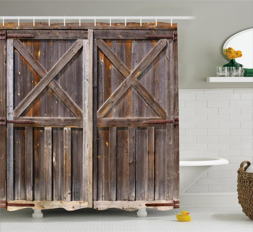 Medium Of Rustic Shower Curtains