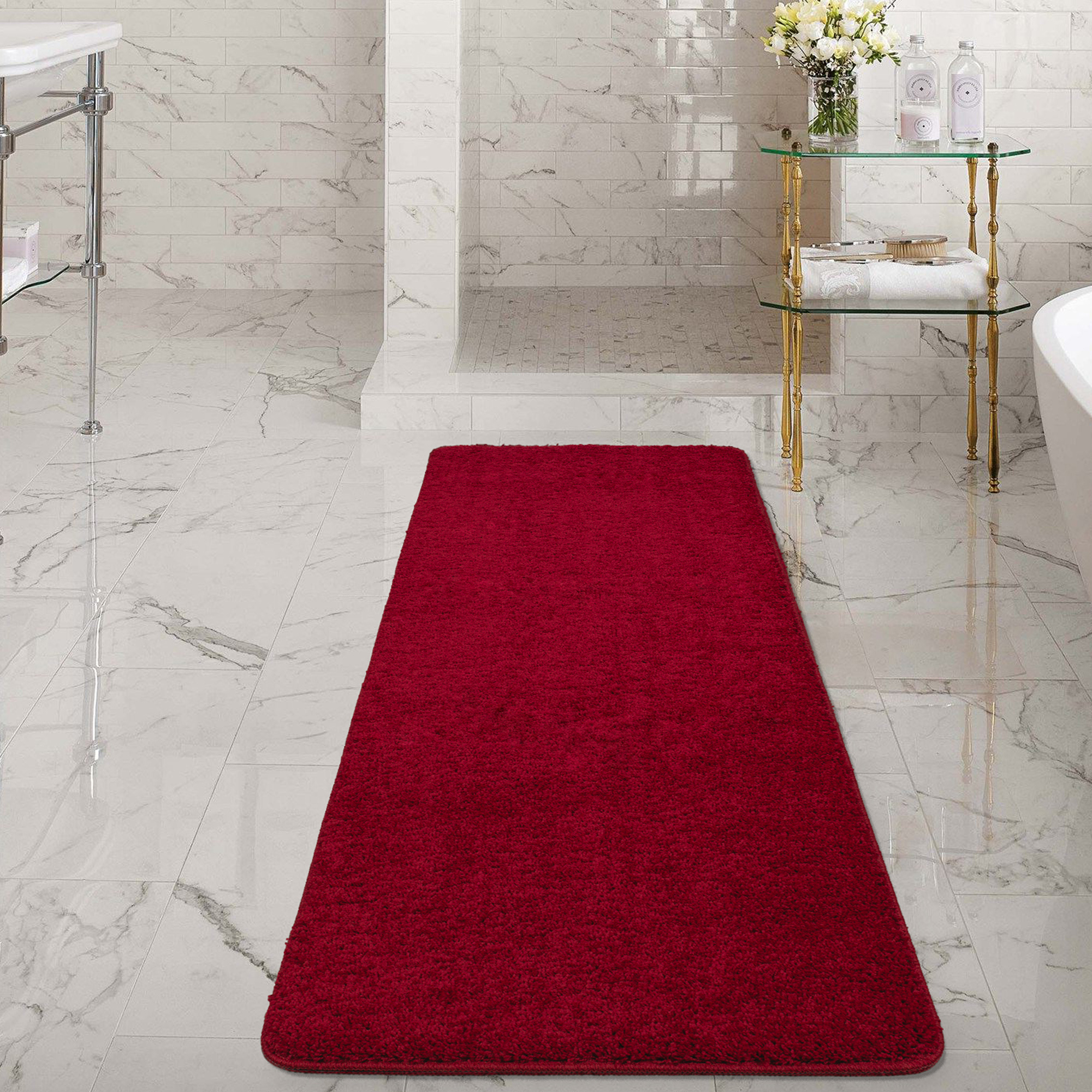 Product Image Ottomanson Luxury NonSlip Rubber Backing Solid Shag Area Rugs And Runners For Kitchen