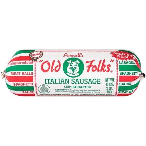 Purnell's Old Folks Italian Sausage, 16 oz - Walmart.com
