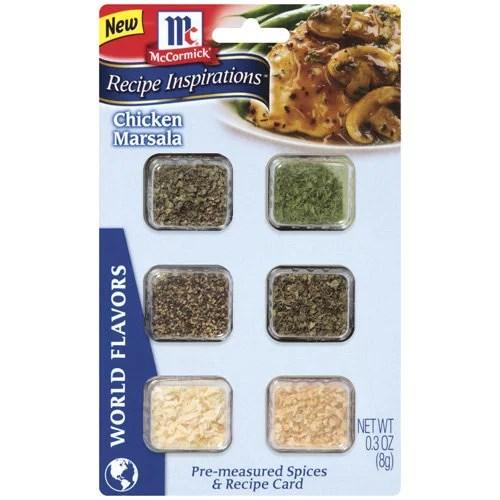 McCormick Recipe Inspirations Spices For Chicken Marsala, .3 oz - Walmart.com