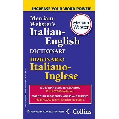 Merriam-Webster's Italian-English Dictionary - Walmart.com