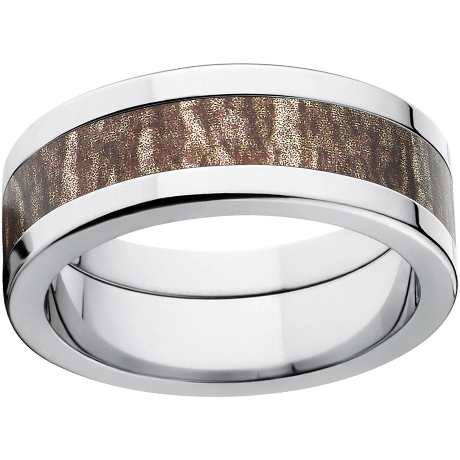 mossy oak wedding ring walmart wedding bands Mossy Oak Bottomland Men S Camo 8mm Stainless Steel Wedding Band With Polished Edges And Deluxe Comfort Fit Walmart Com