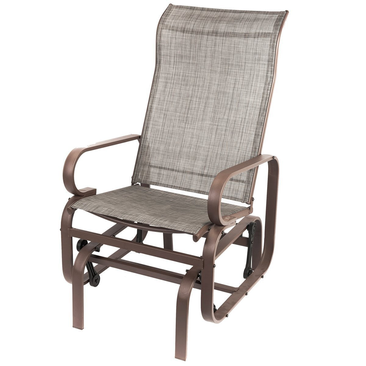Walmart Naturefun Outdoor Patio Rocker Chair Balcony Glider Rocking Lounge  All Weatherproof Gray  Walmartcom
