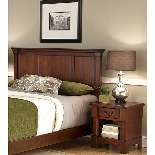 Home Styles The Aspen Collection King/California King Headboard and Night Stand, Rustic Cherry ...
