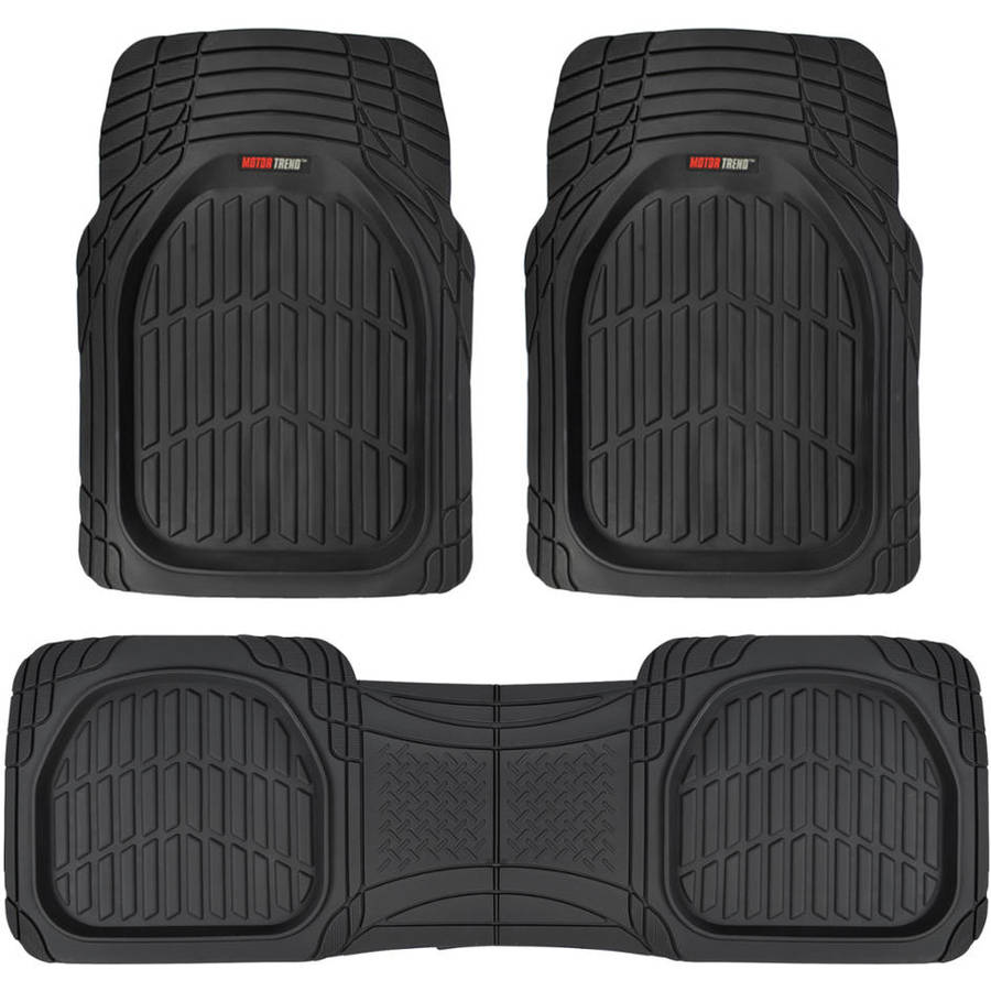 kitchen floor mats walmart Motor Trend FlexTough Car Floor Mats Contour Liners Heavy Duty Deep Dish Rubber Mats for