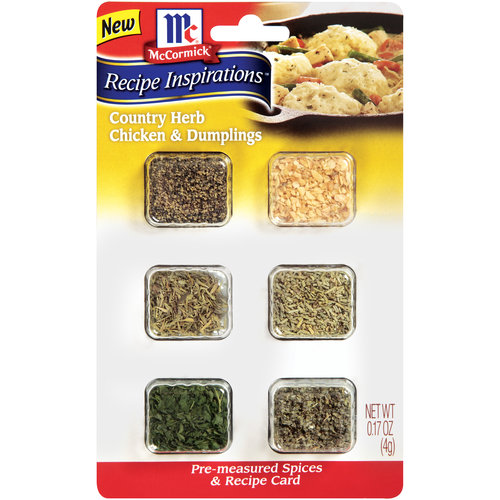 McCormick Recipe Inspirations Country Herb Chicken & Dumplings Pre-Measured Spices & Recipe Card ...