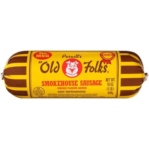 Purnell's Old Folks Smokehouse Sausage, 16 oz - Walmart.com