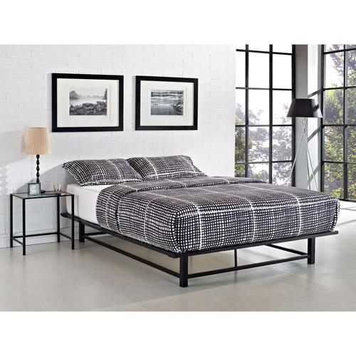 Parsons Full Metal Ledge Platform Bed Black  Walmart