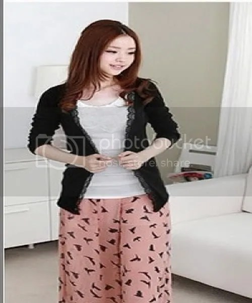 F2053 lace trim cardigan blouse jacket (& # 40657; colors)