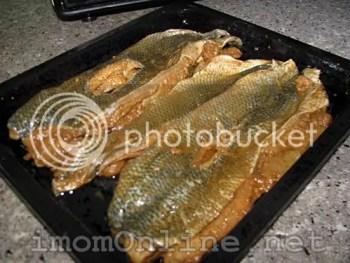 Marinated bangus fillets for bangus sisig