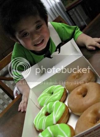 Krispy Kreme Green Hornet Doughnuts