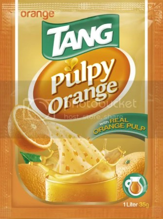 Tang pulpy juice orange