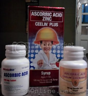 My armament against sickness! ceelin with zinc