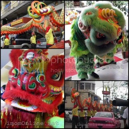 Happy Chinese New Year dragon dance