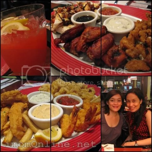 Shareable platters at TGI Friday's buffalo wings, seafood