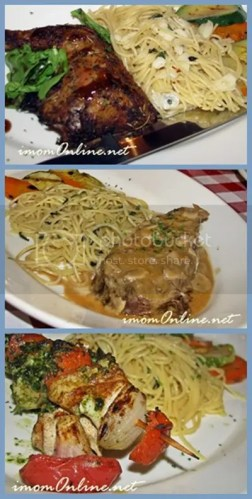 Italianni's lunch sets pasta chicken fish ribeye