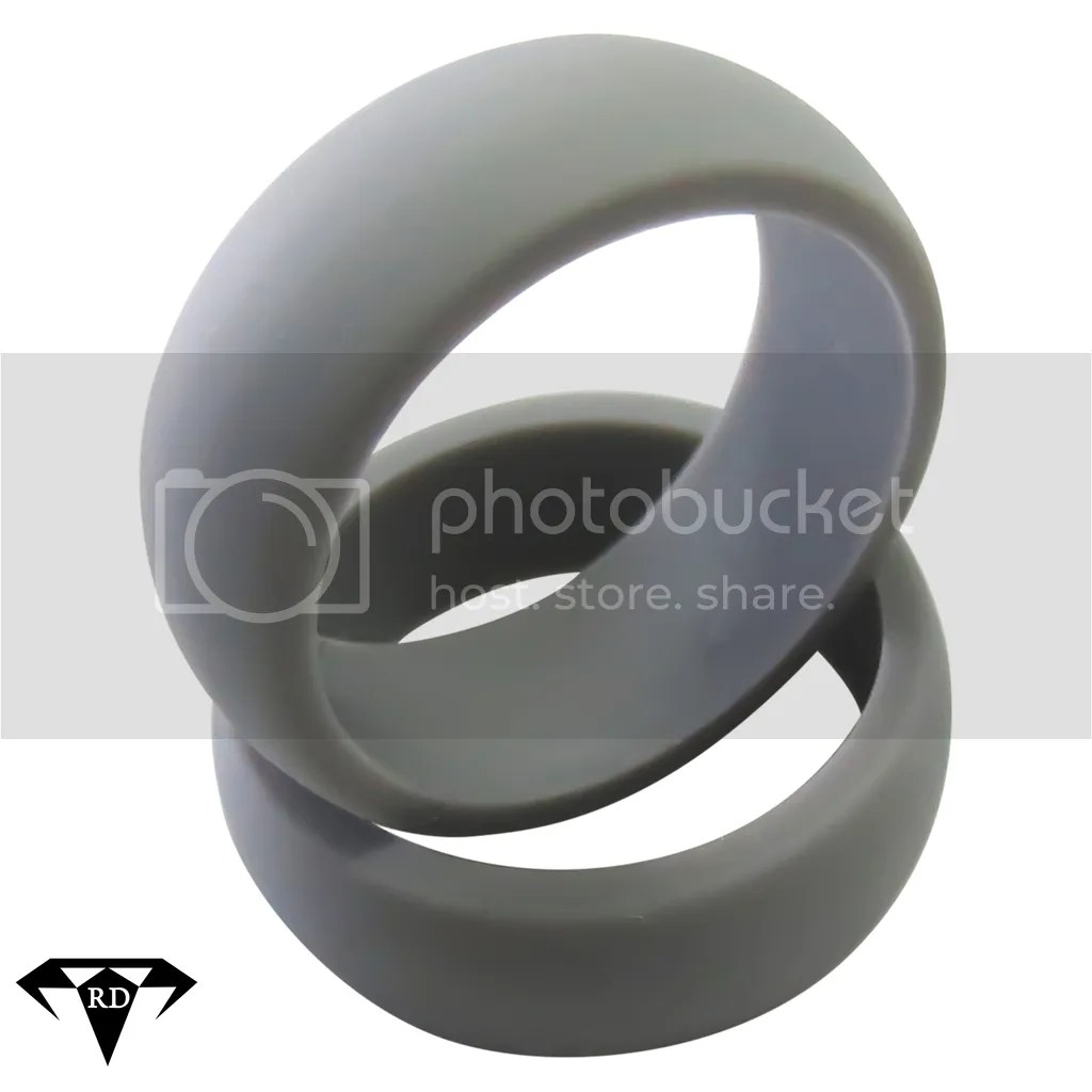 ul CL mens rubber wedding bands Rubber Diamonds Gray Mens Silicone Wedding Ring 9mm