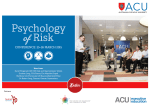 Inaugural Psychology of Risk Conference 2015