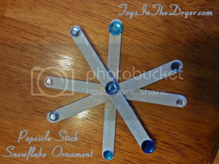 popsicle stick snowflake ornament