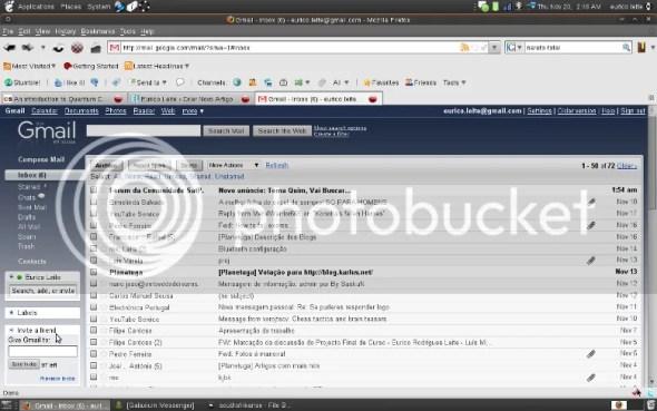 Gmail com tema Shiny