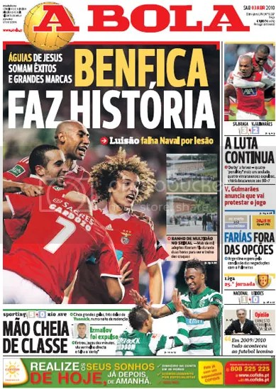 Cover page edition of a Bola