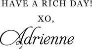 xo, Adrienne