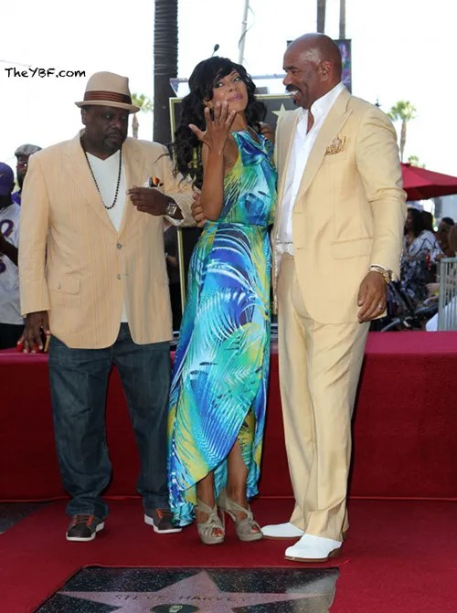 wennsev1 FAB Photos: Steve Harvey gets his star on the Hollywood Walk Of Fame