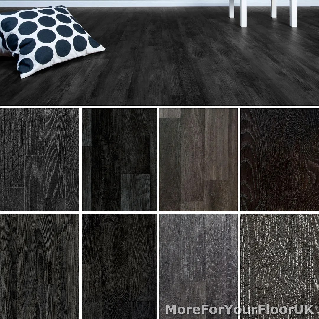 non slip lino flooring kitchen floor lino Black Wood Plank Vinyl Flooring Non Slip Vinyl Flooring Lino Kitchen Bathroom