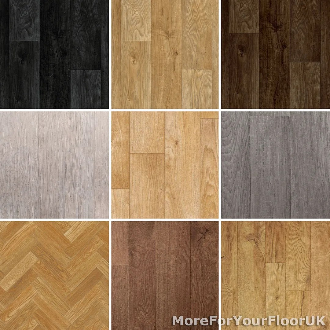 oak vinyl plank kitchen flooring vinyl NEW Wood Plank Vinyl Flooring Roll Quality Lino Anti Slip Kitchen Bathroom Cheap