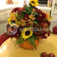 Making A Fun Floral Arrangement for Thanksgiving