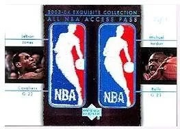 2003/04 Exquisite Michael Jordan Lebron James Logoman All Access