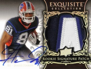 James Hardy 2008 Upper Deck UD Exquisite Football Patch Auto Rookie RC
