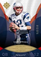 2009 Tom Brady Ultimate Collection Base Card