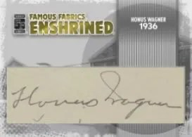 Honus Wagner Famous Fabrics Cut Auto