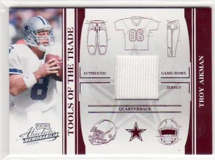 Troy Aikman 2006 Playoff Absolute Memorabilia Tools of the Trade Jersey /75