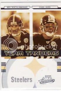 2006 Playoff Absolute Memorabilia Team Tadems Roethlisberger Ward /250